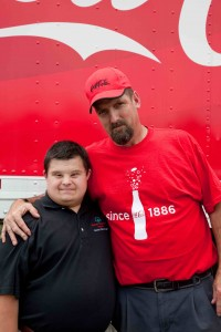William Crockett, an Athlete from Area 6 meets a participating truck driver
