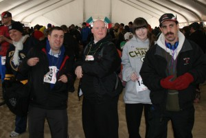 Dancing to the Band in the Big Tent pre-Plunge